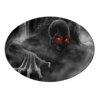 Graveyard Demon Rising Hell On Earth Pentagram Porcelain Serving Platter