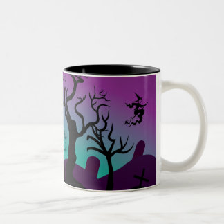 Graveyard Halloween custom mug