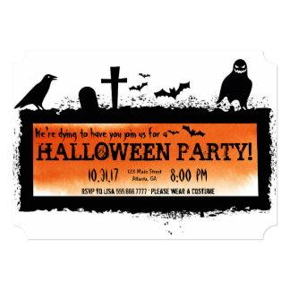 Graveyard Halloween Party Invitation