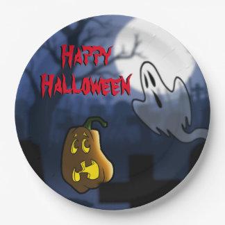 Graveyard Scare Halloween/Birthday Paper Plate