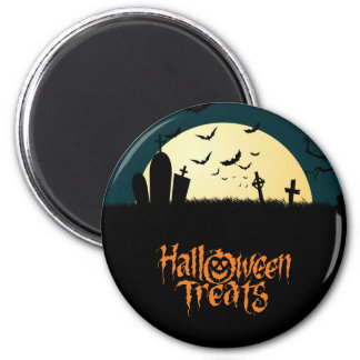 Graveyard scary Halloween treats 6 Cm Round Magnet