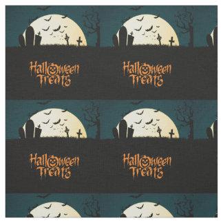 Graveyard scary Halloween treats Fabric