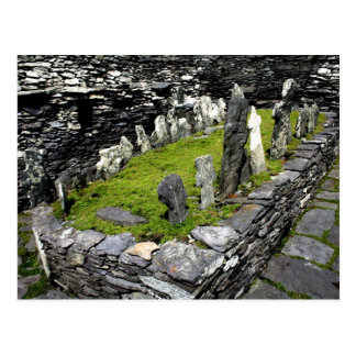 Graveyard Skellig Island Postcard