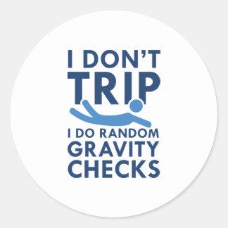 Gravity Checks Classic Round Sticker