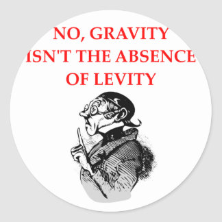 GRAVITY CLASSIC ROUND STICKER