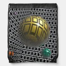 Gravity Free Spheres Drawstring Bag