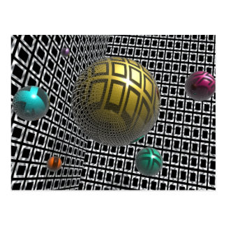 Gravity Free Spheres Postcard