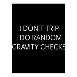 Gravity Postcard