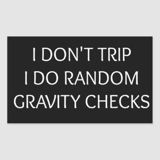 Gravity Rectangular Sticker