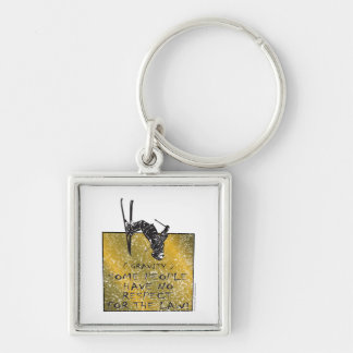 Gravity Skier Key Ring