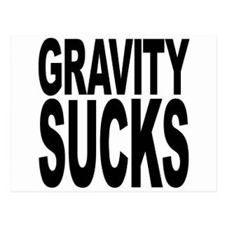 Gravity Sucks Postcard