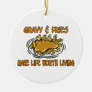 Gravy And Fries Ceramic Ornament