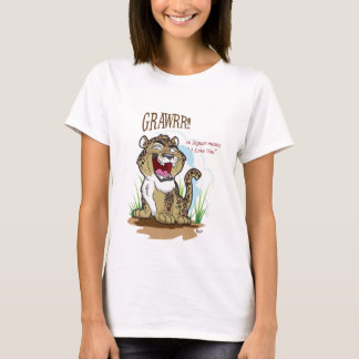 GRAWRR! - Ladies Baby-Doll T-Shirt