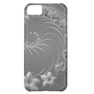 Gray Abstract Flowers iPhone 5C Covers