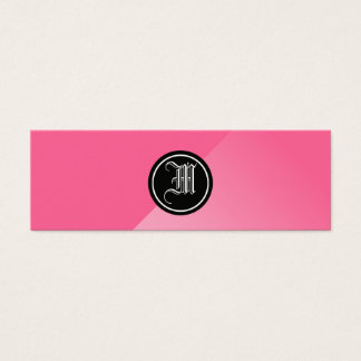 Gray Abstract Gothic Monogram Mini Business Card