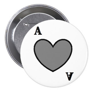 Gray Ace 7.5 Cm Round Badge