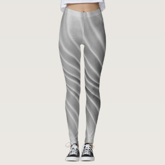Gray Airbrush Stripes - Leggings