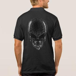 Gray Alien Skull Polo Shirt