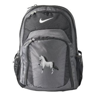 Gray American Saddlebred Horse Nike Backpack