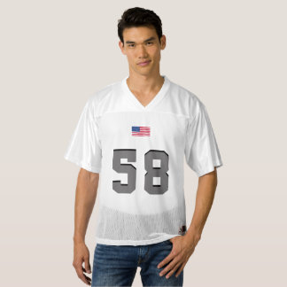 Gray American soccer with American Flag Men's Football Jersey