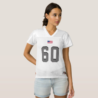 Gray American soccer with American Flag, she Women's Football Jersey