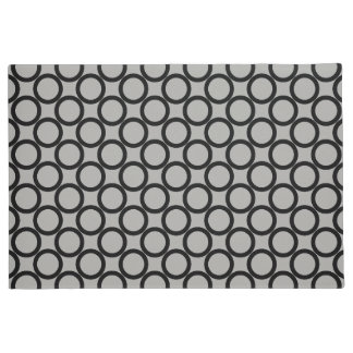Gray and black circle pattern doormat