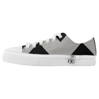 Gray and Black Enlarged Chevron Sneaker
