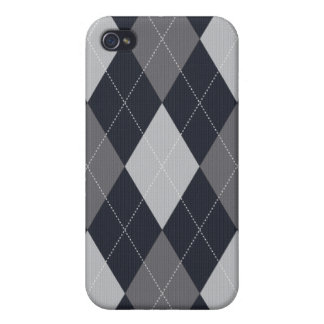 Gray and Black Knitted Style Argyle Iphone Case iPhone 4/4S Cases