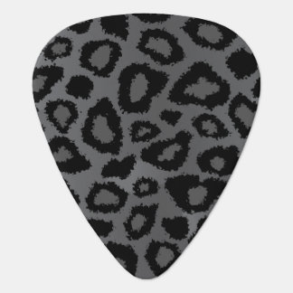 Gray And Black Leopard Pattern Plectrum