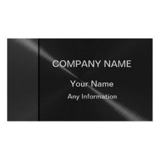 Gray and Black Luxury Metallic Pack Of Standard Business Cards