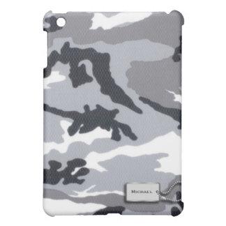 Gray and Black Military Camouflage iPad Mini Case