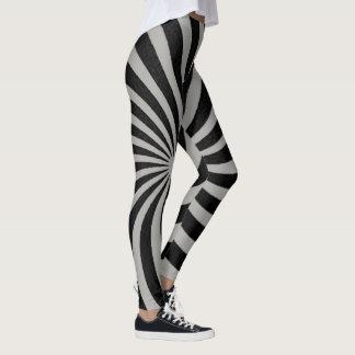 Gray and Black Spiral Leggings