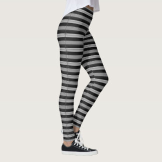 Gray and Black stripes leggings