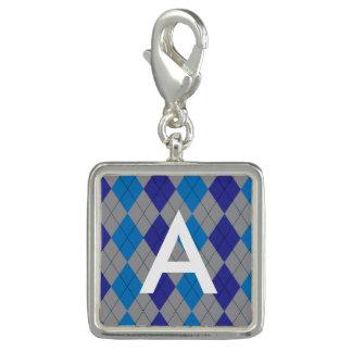 Gray and Blue Argyle Customizable