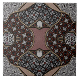 Gray And Brown Patchwork Tile