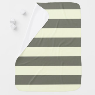 Gray and cream Stripe Baby Blanket