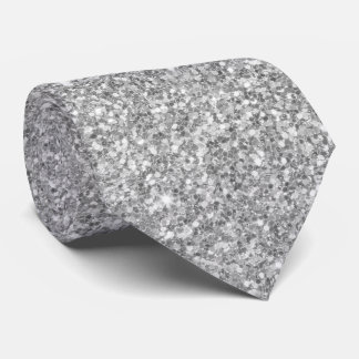 Gray And Glittering White Pattern Tie