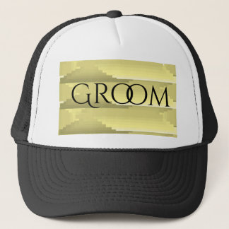 """""""Gray And Gold"""" Personalized Wedding Hat"""