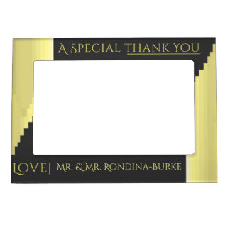 Gray and Gold Thank You Magnetic Frame