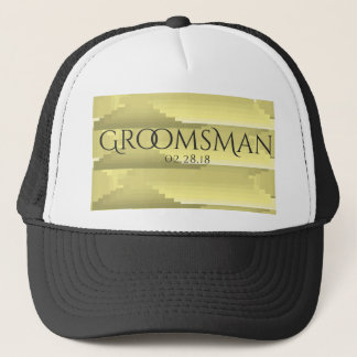 """""""Gray And Gold"""" Wedding Party Hat"""