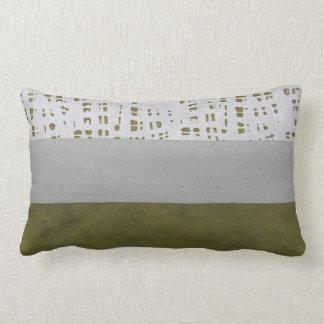 Gray and green modern pattern lumbar pillow