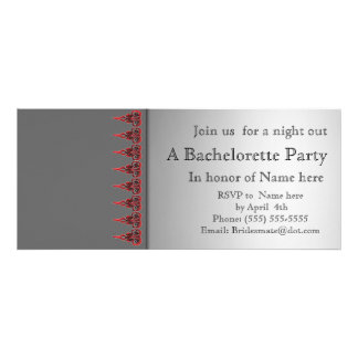 Gray and lace bachelorette party invitation