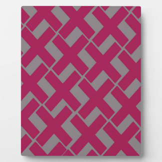 Gray and Magenta Xs Display Plaques
