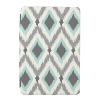 Gray and Mint Tribal Ikat Chevron iPad Mini Cover