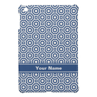 Gray and Navy Nested Octagon iPad Case