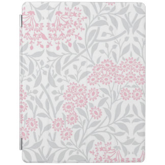 Gray and Pink Floral Damask Pattern iPad Cover