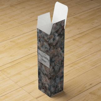 Gray and Pink Granite 4629 Wine Gift Box