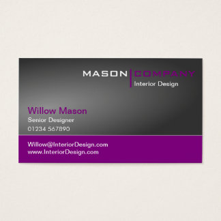 Gray and Purple Corporate Business Card