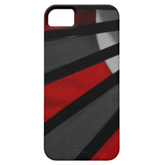 Gray and Red Fan Close Up iPhone 5 Case