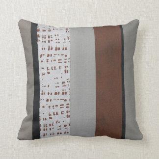 Gray and rust modern pattern cushion